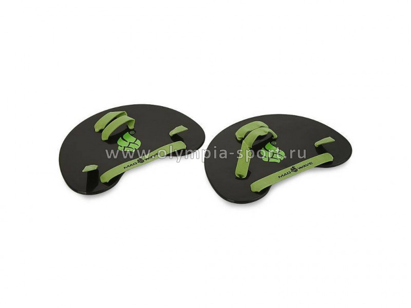 Лопатки на пальцы Mad Wave Finger Paddles, Black/Green