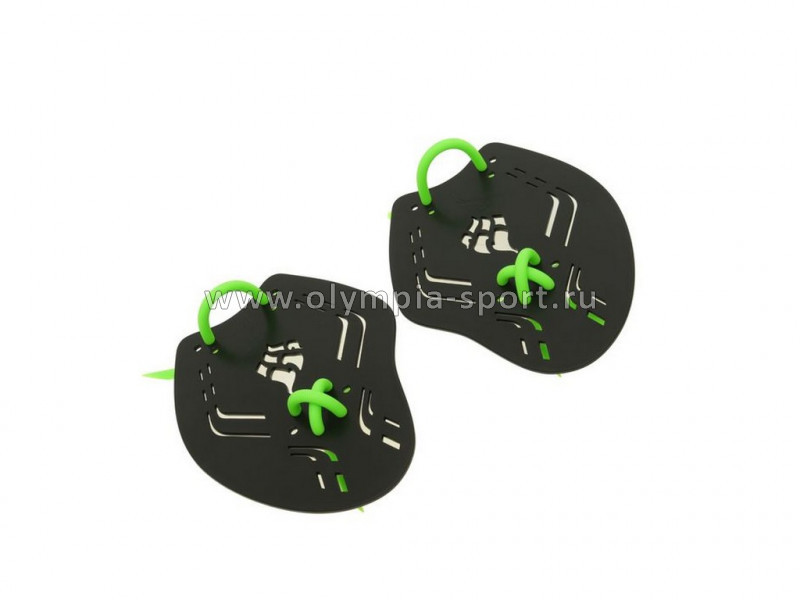 Лопатки для плавания Mad Wave Trainer Paddles Extreme, 21,7x16x0,3 M, Black/Green