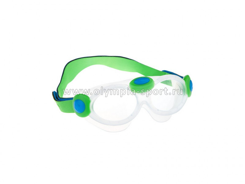 Очки для плавания Mad Wave Kids Bubble mask, Green