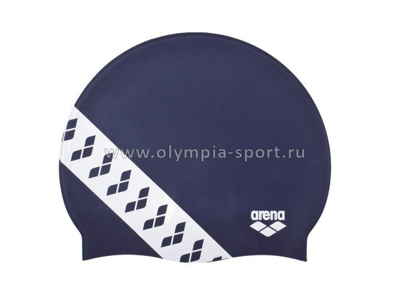 Шапочка для плавания ARENA Team Stripe Cap арт.001463701 т.синий