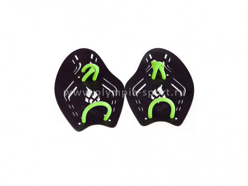 Лопатки для плавания Mad Wave Trainer Paddles Extreme, 25x17,8x0,3 L, Black/Green